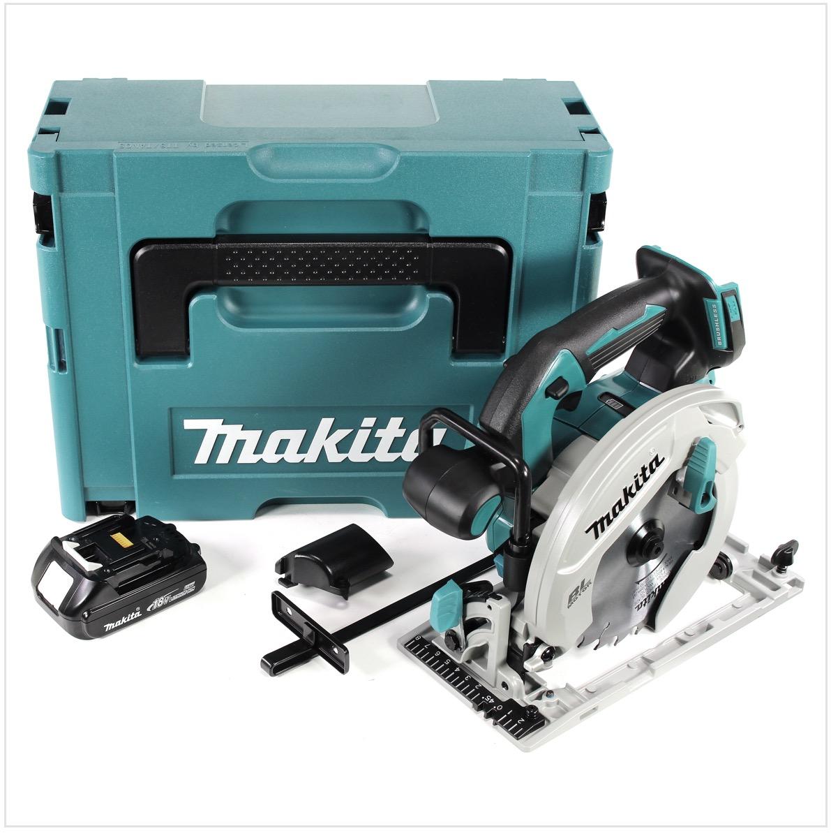 Makita DHS680Y1J Akku-Handkreissäge 18V Brushless 165mm + 1x Akku 1,5Ah + Koffer - ohne Ladegerät