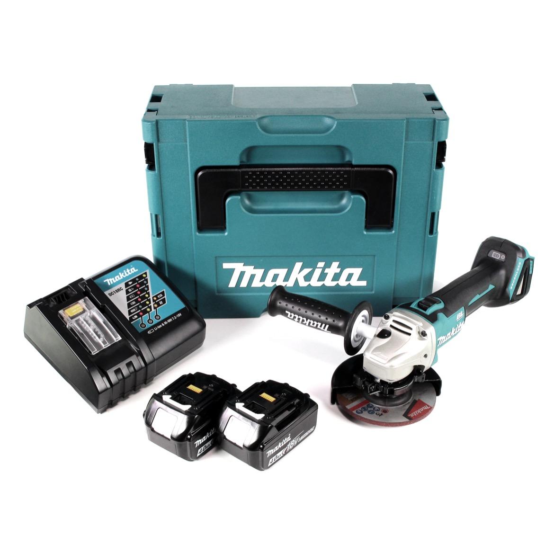 Makita DGA504RMJ Akku-Winkelschleifer 18V Brushless 125mm 125mm + 2x Akku 4,0Ah + Ladegerät + Koffer